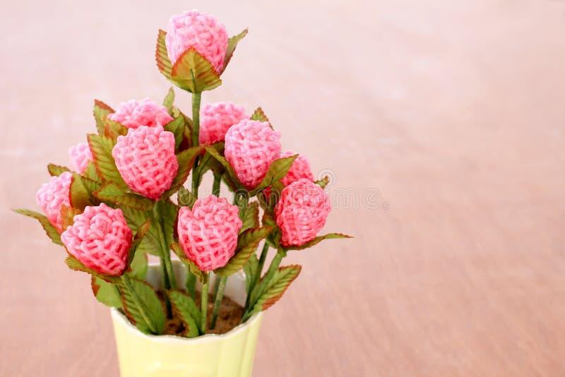 Met de hand gemaakte bloemen royalty-vrije stock foto