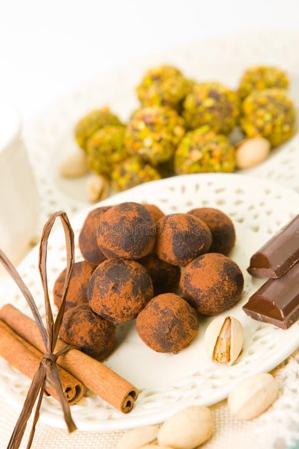 Met de hand gemaakte Chocolade stock afbeeldingen