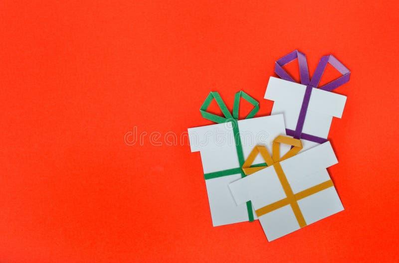 Met de hand gemaakte document gift stock fotografie