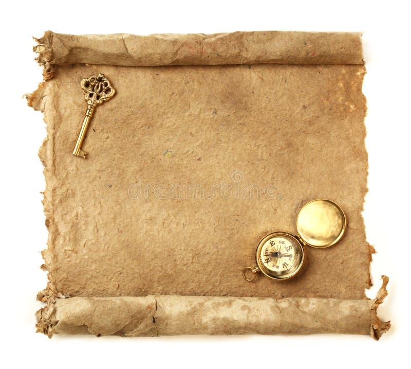 Met de hand gemaakte document rol royalty-vrije stock afbeeldingen