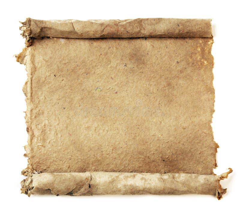 Met de hand gemaakte document rol royalty-vrije stock afbeelding