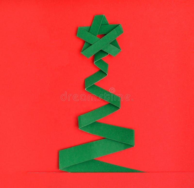 Kerstboom en gift royalty-vrije stock afbeelding