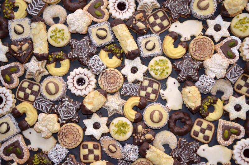 Met de hand gemaakte Kerstmiskoekjes royalty-vrije stock afbeelding