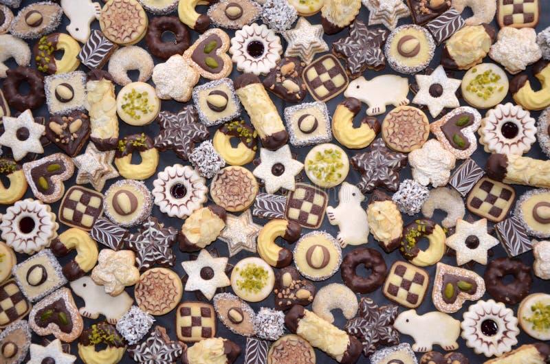 Met de hand gemaakte Kerstmiskoekjes stock fotografie