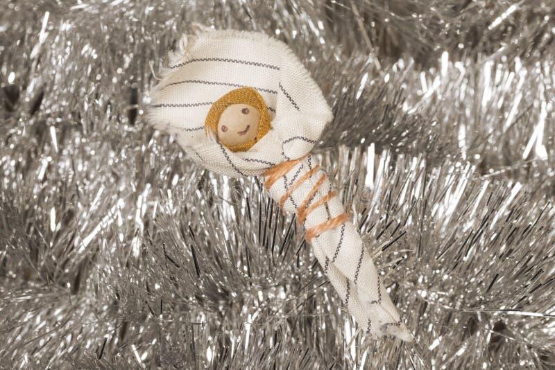 Met de hand gemaakte Kerstmisvoederbak royalty-vrije stock afbeelding