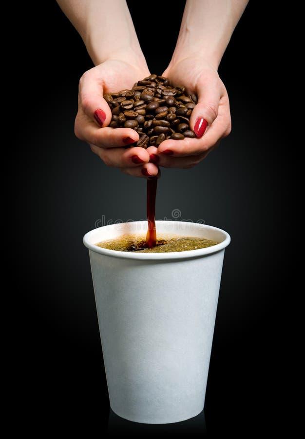 Met de hand gemaakte koffie stock foto