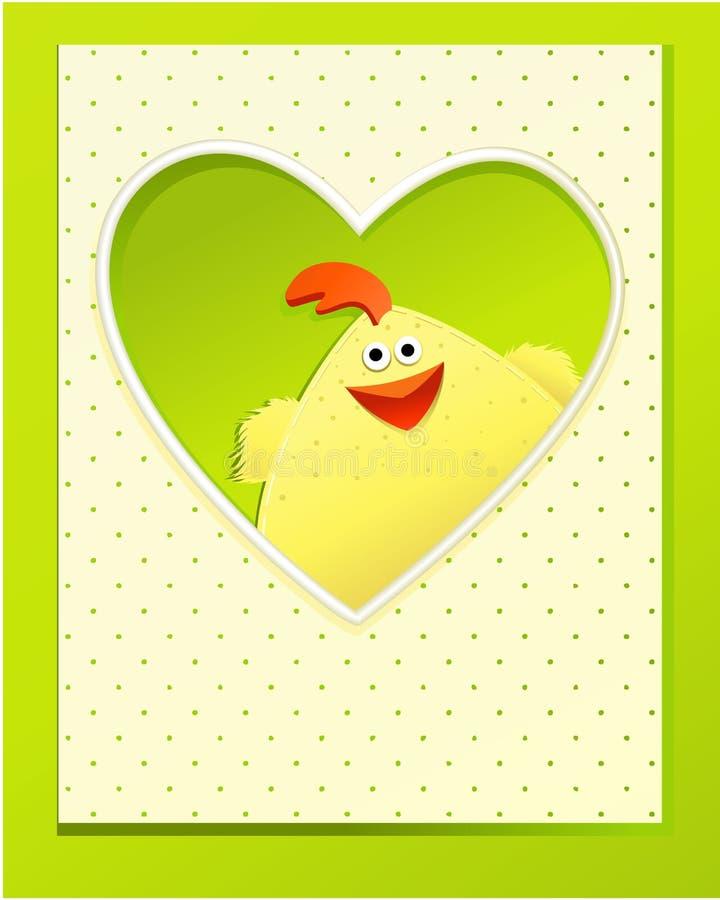 Met de hand gemaakte Pasen-kaart stock illustratie