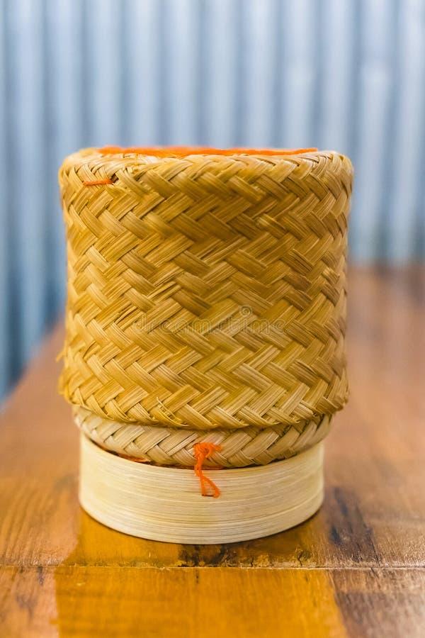 Met de hand gemaakte rieten rijst royalty-vrije stock foto's