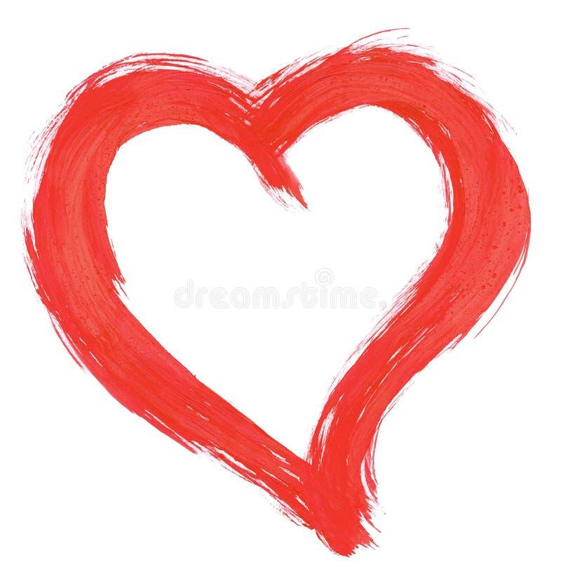 Met de hand geschilderd hart