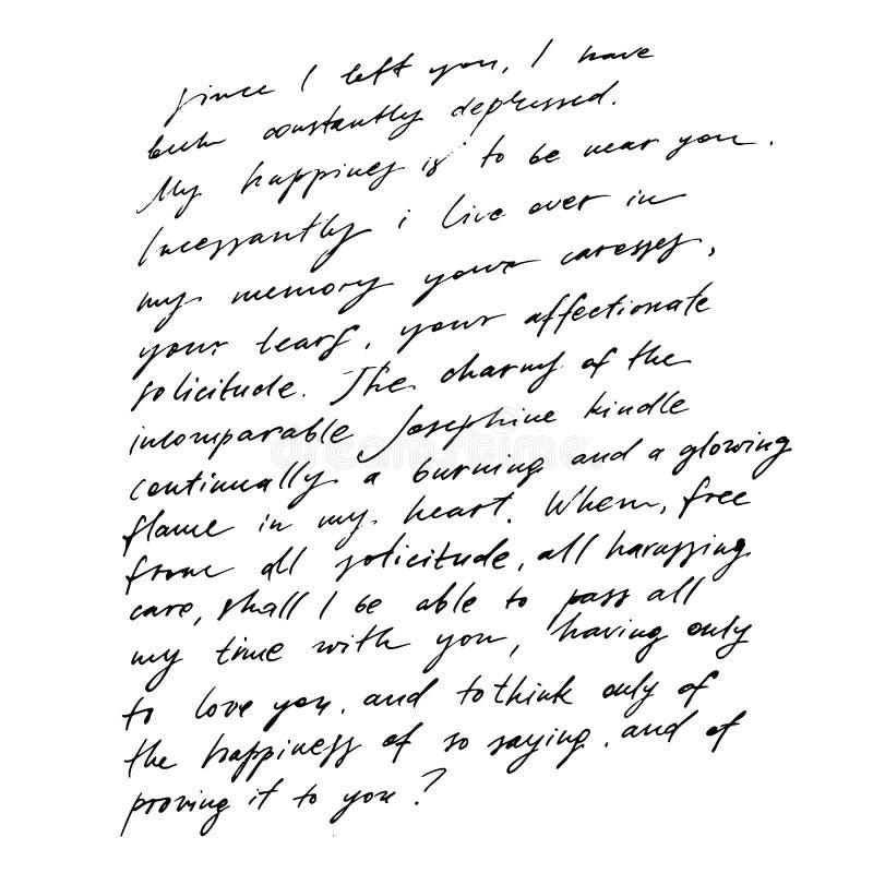 Met de hand geschreven abstract tekstbehang Imitatie van het abstracte uitstekende van letters voorzien Brieven die in inschrijvi stock illustratie