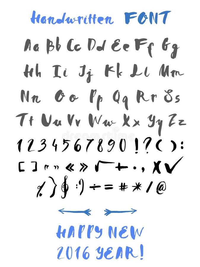 Met de hand geschreven handtekening vector illustratie