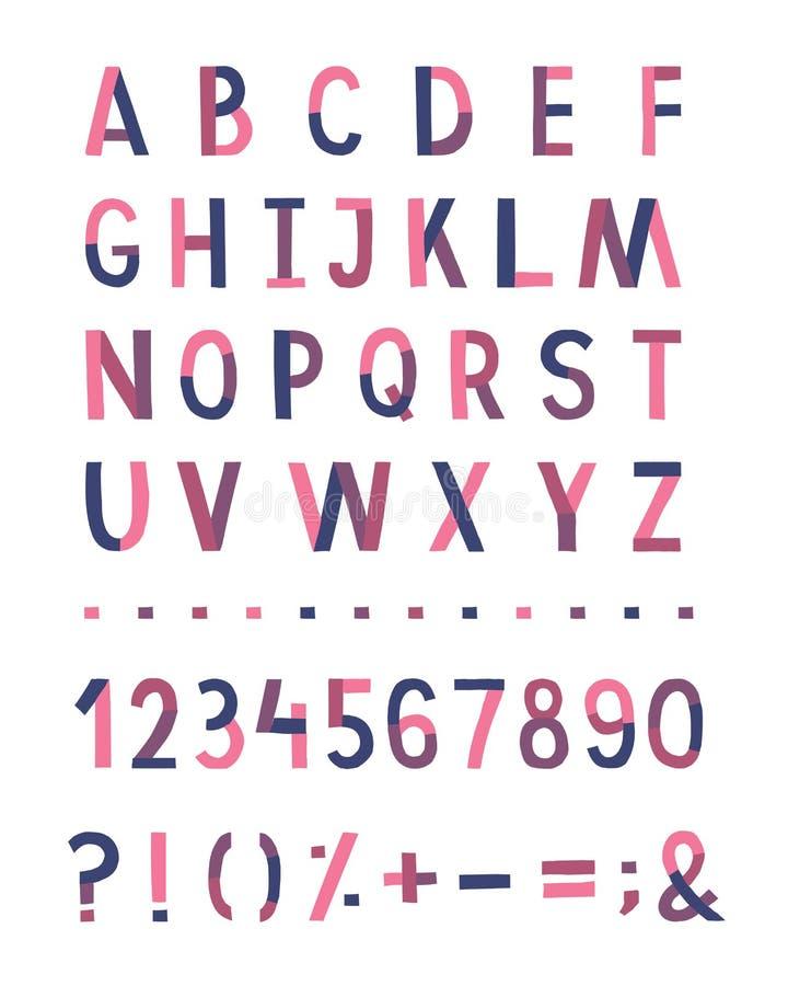 Met de hand geschreven vectoralfabet vector illustratie