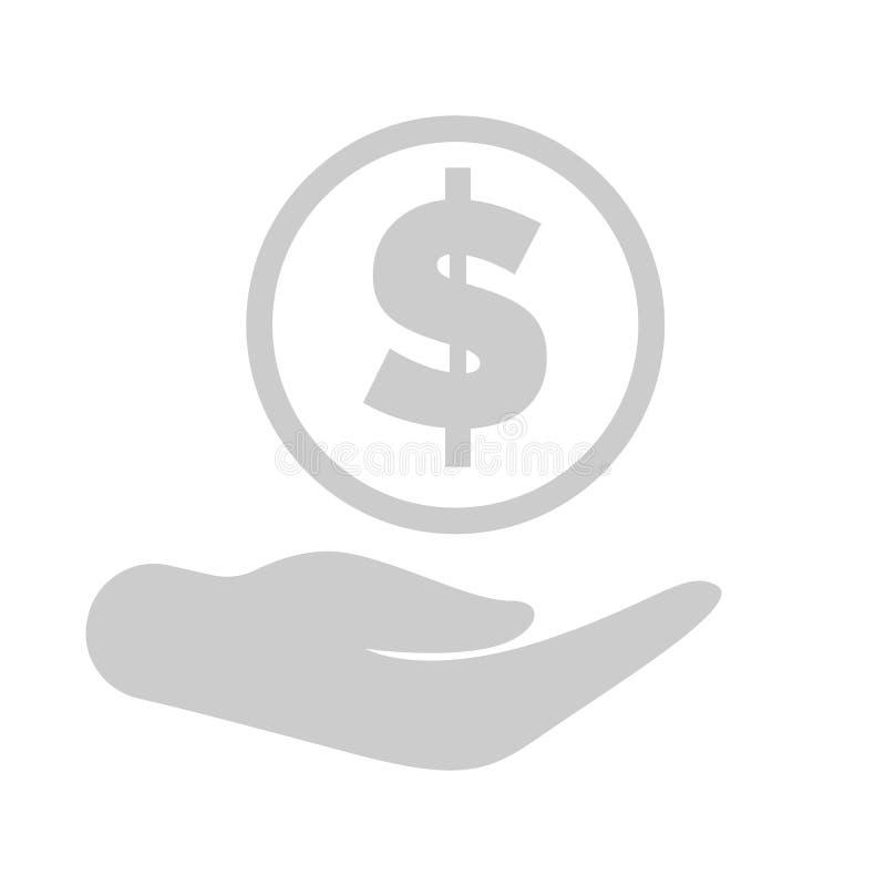 Met de hand Gesteunde dollar, Besparingen Financiële Activa stock illustratie