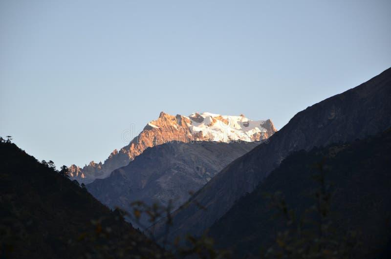 met de Himalayan-waaiers stock foto