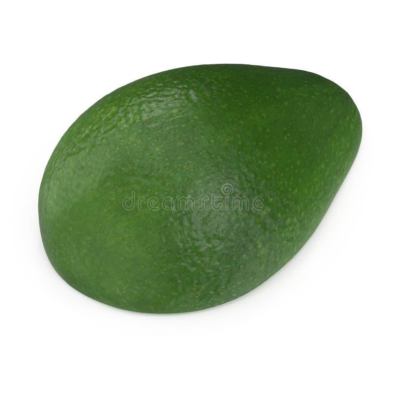 Met? dell'avocado isolata sull'illustrazione bianca del fondo 3D fotografia stock