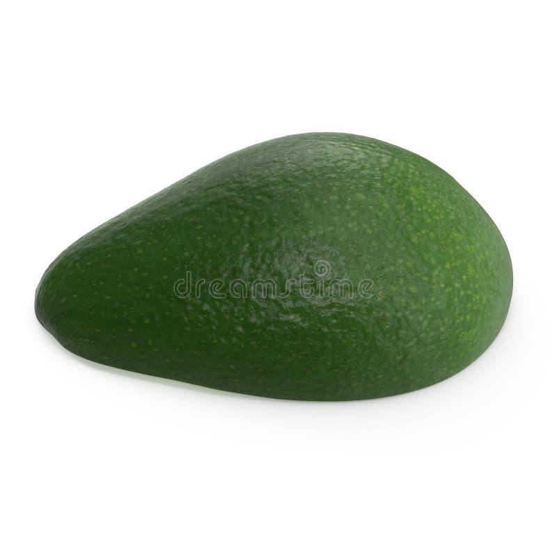 Met? dell'avocado isolata sull'illustrazione bianca del fondo 3D immagine stock