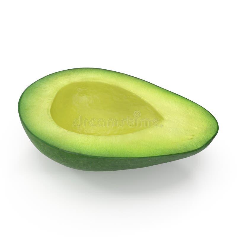 Met? dell'avocado isolata sull'illustrazione bianca del fondo 3D fotografia stock libera da diritti
