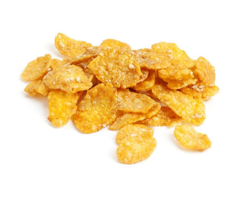Met een suikerlaagje bedekt cornflakes royalty-vrije stock afbeeldingen