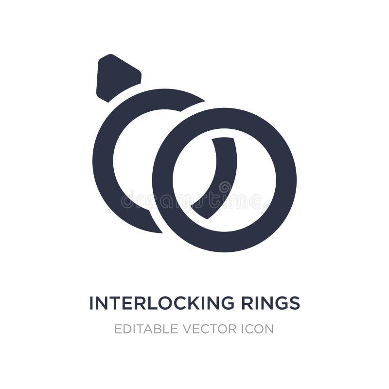met elkaar verbindend ringenpictogram op witte achtergrond Eenvoudige elementenillustratie van Algemeen concept stock illustratie
