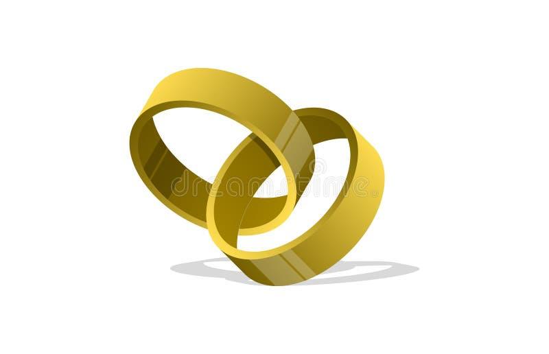 Met elkaar verbindende Ringen stock illustratie