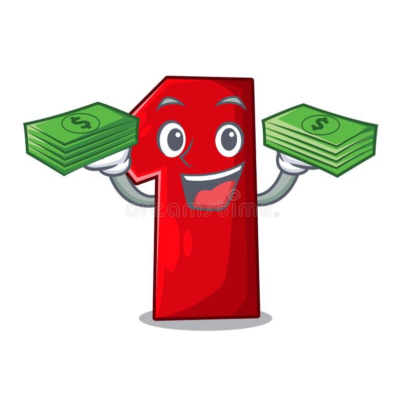 Met geldbeeldverhaal het aantal voor kampioen vector illustratie