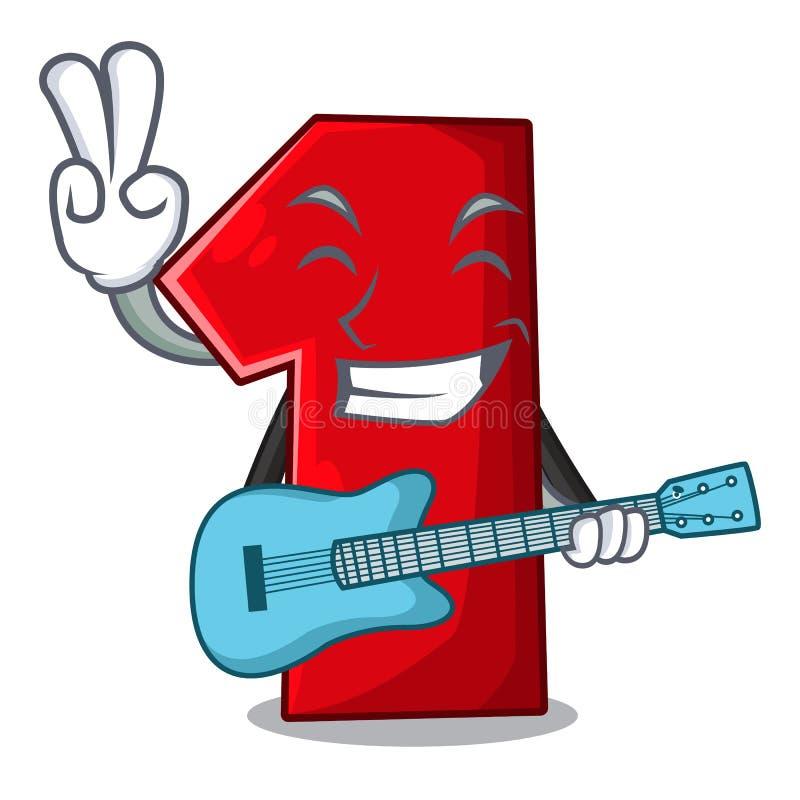 Met gitaarbeeldverhaal het aantal voor kampioen stock illustratie