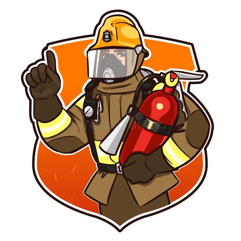 Download Met het brandblusapparaat vector illustratie. Illustratie bestaande uit mens - 54076859