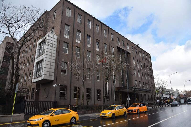 Met het oog op de bouw van de Centrale Bank van de Republiek Turkije, afdeling Ankara royalty-vrije stock afbeeldingen