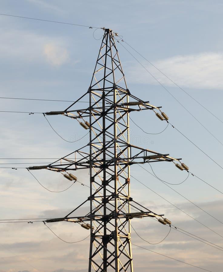 Met hoog voltage stock afbeeldingen