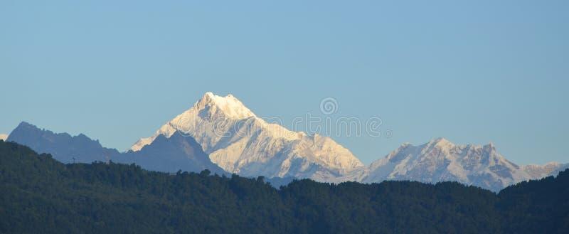 met Kanchenjunga stock afbeeldingen