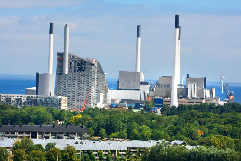 Met kolen gestookte elektrische elektrische centrale royalty-vrije stock foto's