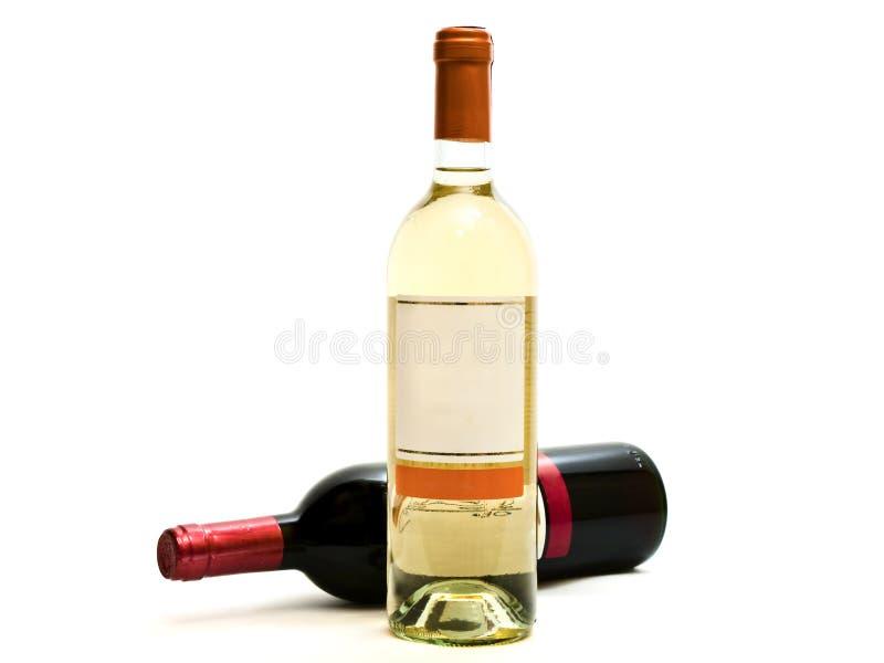 met le vin blanc rouge images stock