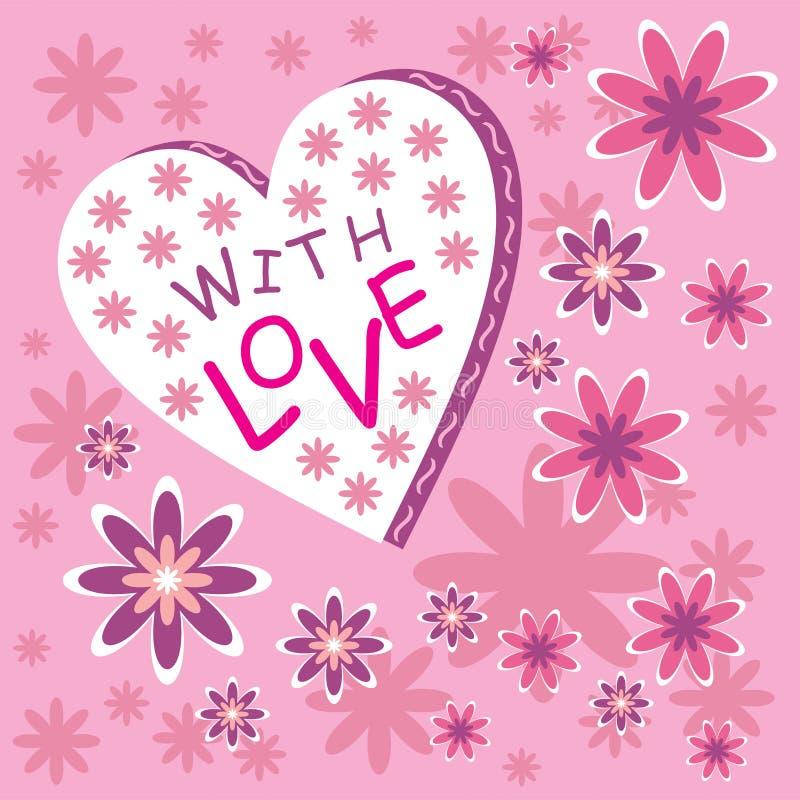 Met liefde stock illustratie