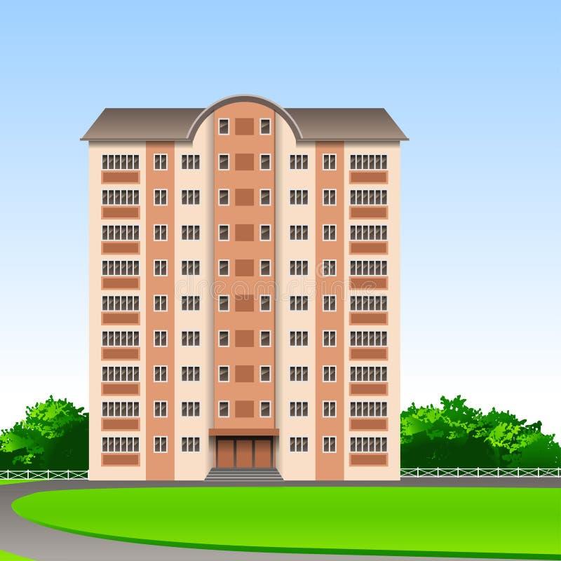 Met meerdere verdiepingen stock illustratie