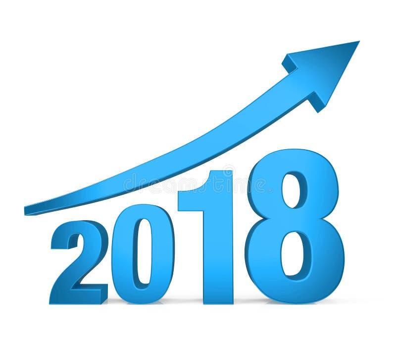 2018 met omhoog Geïsoleerde Pijl vector illustratie