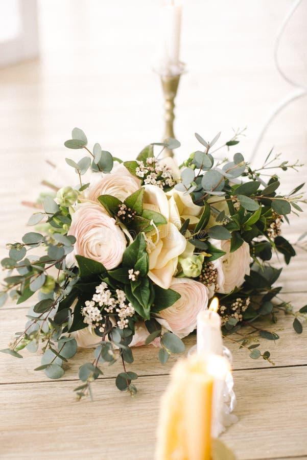 Met succulente bloemen royalty-vrije stock foto's