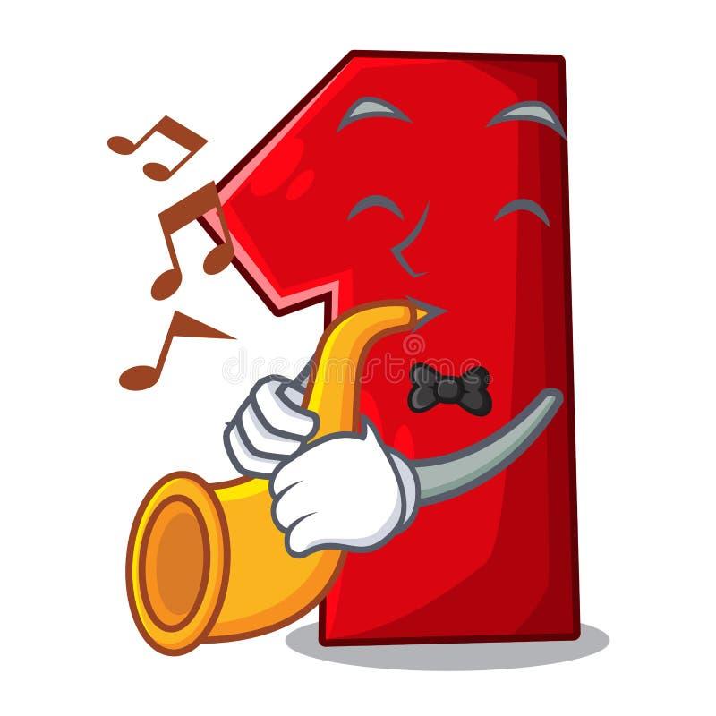 Met trompetbeeldverhaal het aantal voor kampioen stock illustratie