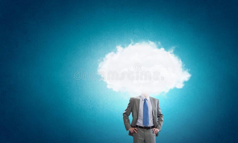 Met zijn hoofd in wolken royalty-vrije stock foto