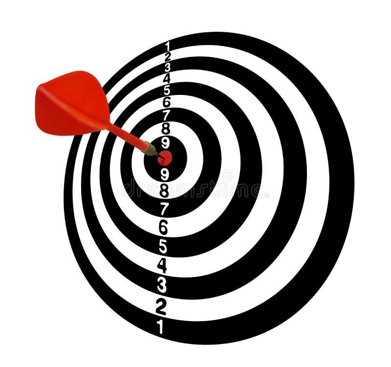 meta Blanco Full-2 Flechas rojas en el centro Tono blanco ilustración del vector