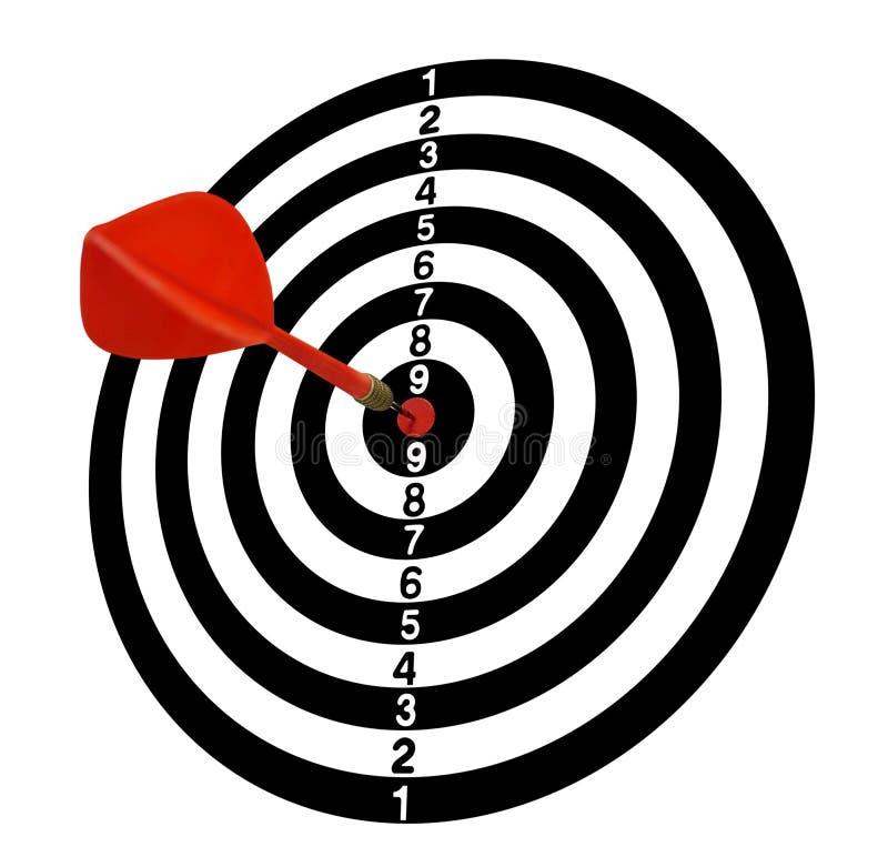 meta Blanco Full-1 Flechas rojas en el centro Tono blanco stock de ilustración
