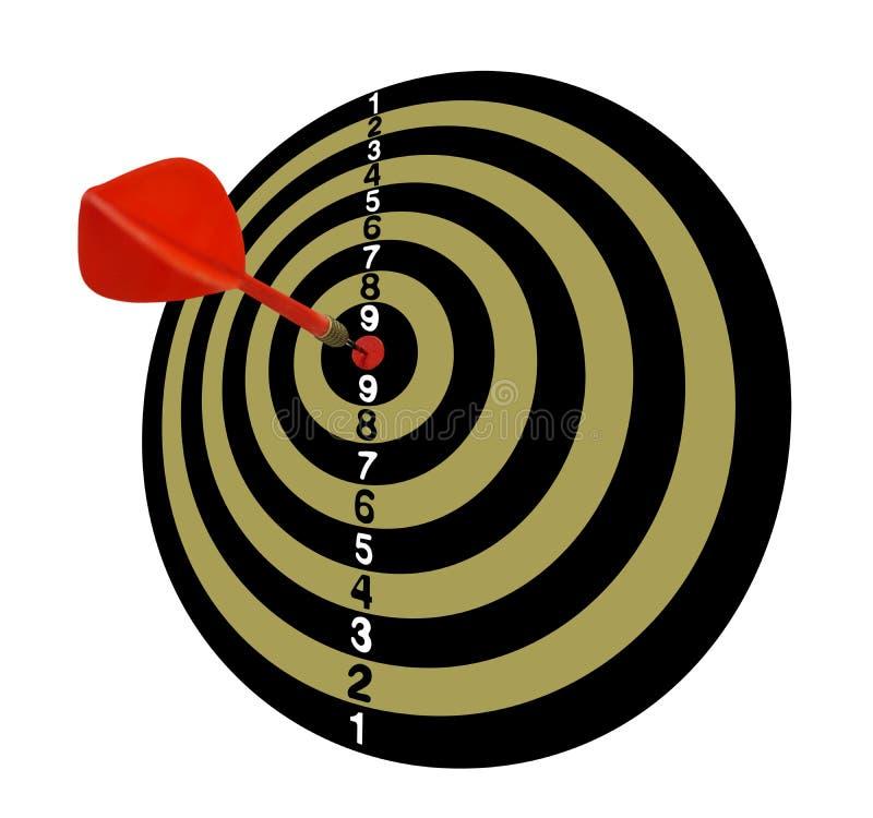 meta Blanco Full-2 Flechas rojas en el centro Tono de color caqui ilustración del vector