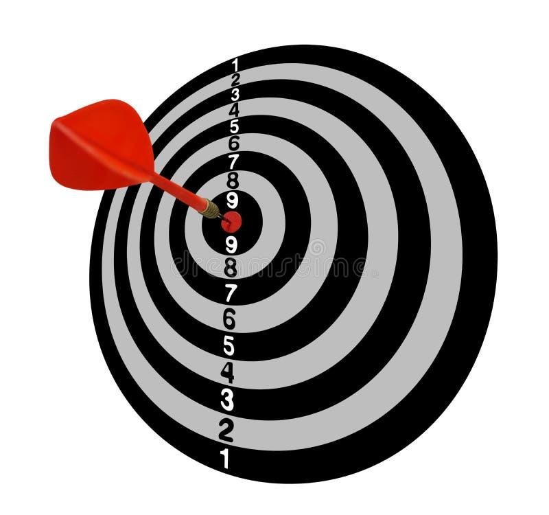 meta Blanco Full-2 Flechas rojas en el centro Tono gris stock de ilustración