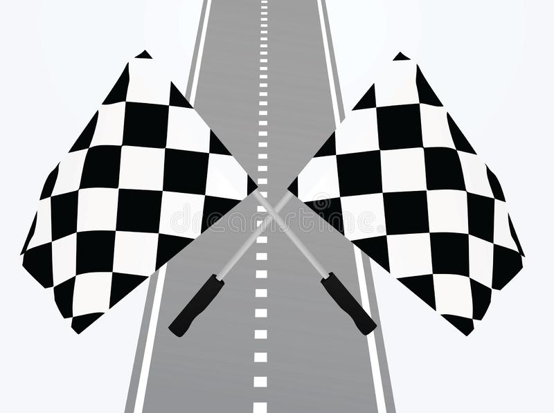 Meta con las banderas ilustración del vector