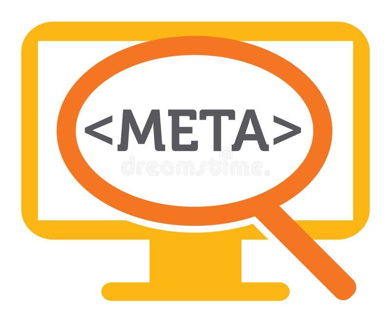 Meta - datasökande vektor illustrationer
