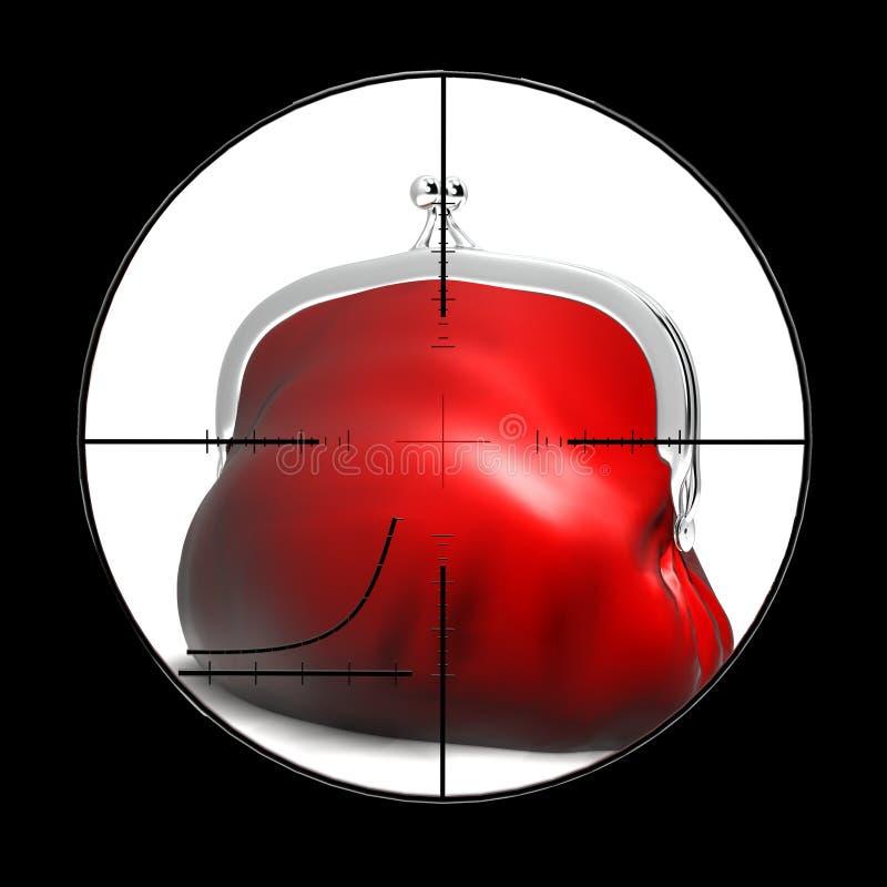Meta de la vista del objetivo ilustración del vector