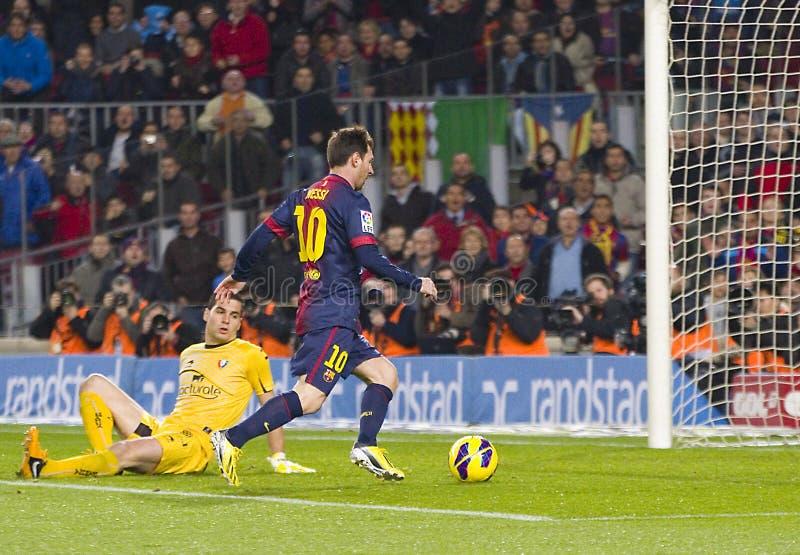 Meta de Lionel Messi fotografía de archivo