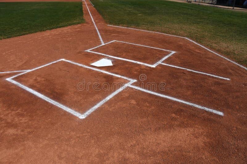 Meta del béisbol y caja de taludes foto de archivo libre de regalías