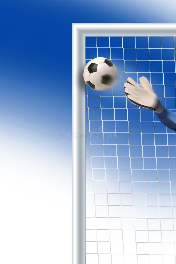 Meta del fútbol stock de ilustración