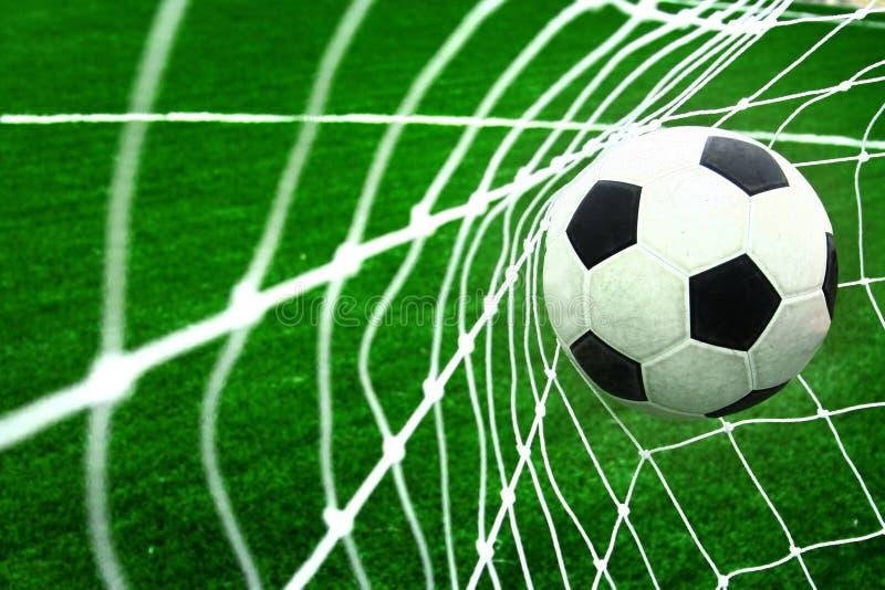 Meta del fútbol imagen de archivo libre de regalías