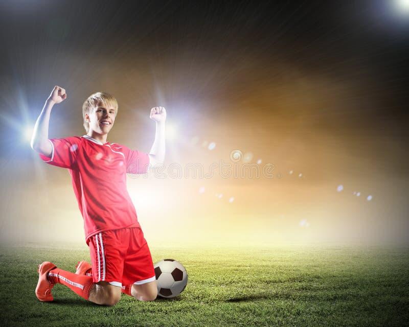 Meta del fútbol imágenes de archivo libres de regalías